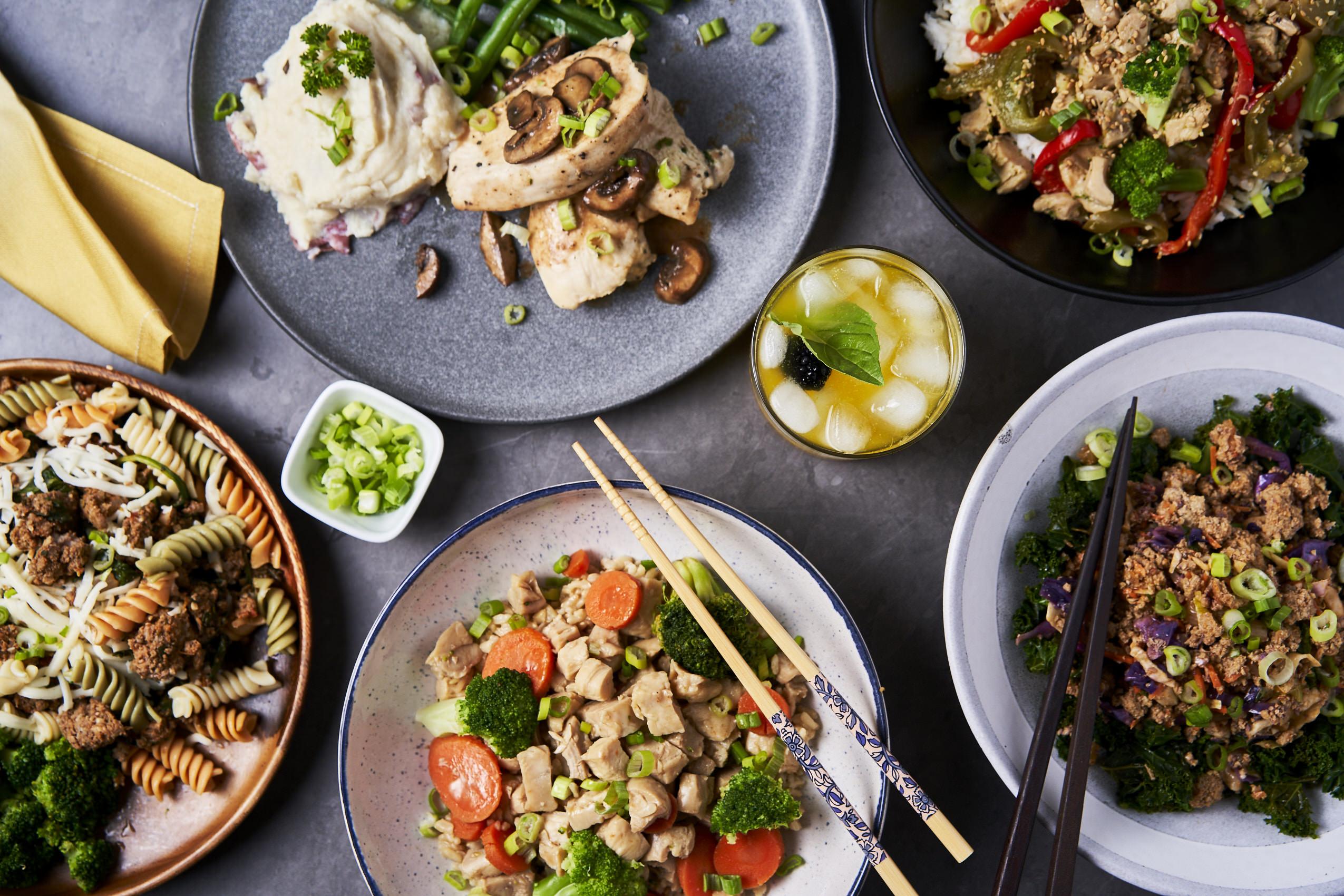 East Bay Meal Prep food display